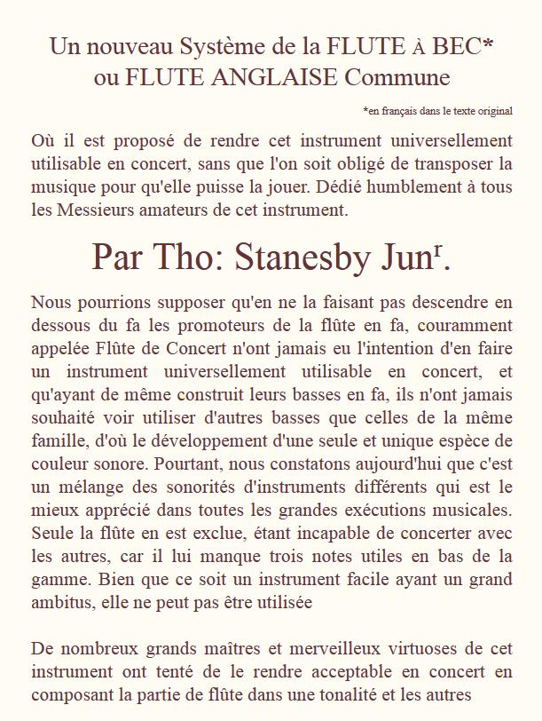 stanesby jr traduction de l 39 apologie de la fl te bec t nor the true concert flute. Black Bedroom Furniture Sets. Home Design Ideas